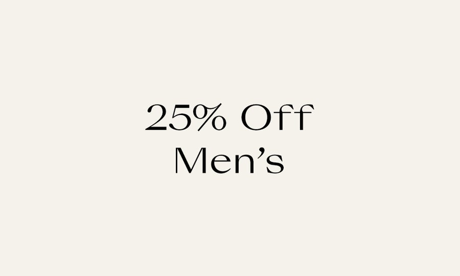 25 off mens new markdowns
