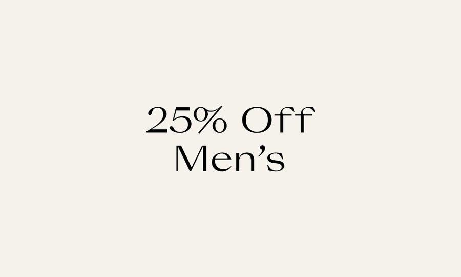 25% Off Men's New Markdowns