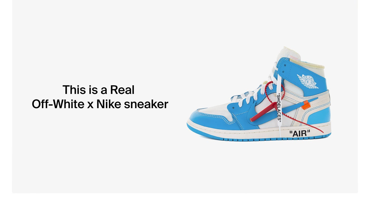 This is a Real Off-White x Nike sneaker. Have sneakers to consign? Book an appointment now.