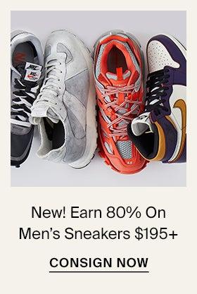New! Earn 80% On Men's Sneakers $195+